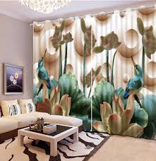 Turquoise Living Room Curtains Online Get Cheap Modern Print Curtains Aliexpress Com Alibaba Group