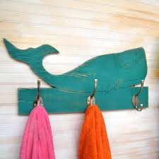 Bathroom Towel Decor Ideas by Whale Towel Bathroom Hook Wooden Kids Towel Hook Whale Entryway