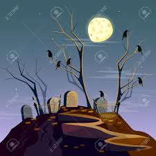 blue halloween background halloween background graveyard at night cartoon spooky forest