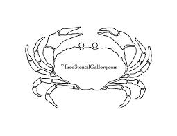 crab silhouette stencil free stencil gallery