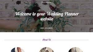 wedding planner website wedding planner website templates godaddy