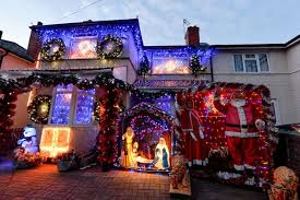 trick or treaters to face dazzling christmas scene as couple