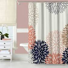 Navy And Coral Shower Curtain Navy And Coral Shower Curtain Pmcshop