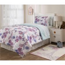 Shams Bedding Mainstays Kids Paris Lavender Bed In A Bag Bedding Set Walmart Com