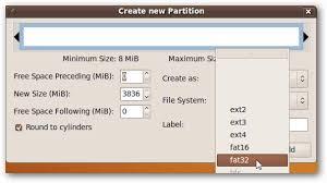 format as fat32 ubuntu how to format a usb drive in ubuntu using gparted