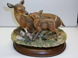 home interior masterpiece figurines home interior homco fawn doe deer masterpiece collection