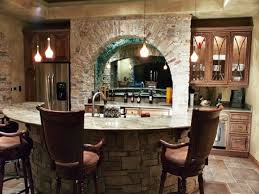 Rustic Basement Ideas Rustic Basement Wet Bar Ideas With Round Island Http
