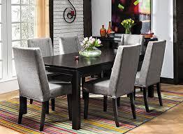 Raymour And Flanigan Dining Room | logan 7 pc dining set dark brown gray raymour flanigan