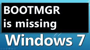 format hard disk bootmgr missing bootmgr is missing system restore how to fix youtube