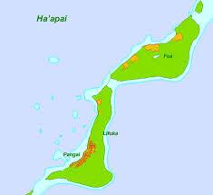 tonga map foa island tonga map haapa039i mappery