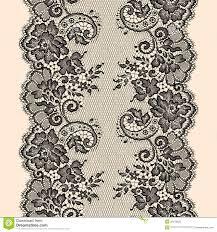 black lace ribbon black lace ribbon vertical seamless pattern stock vector