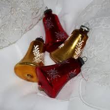 Glass Bell Christmas Ornaments - shop vintage shiny brite glass christmas ornaments on wanelo