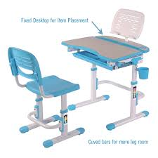 desk and chair set bobbie pink blue children adjustable furniture desk chair set