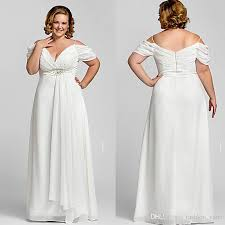 discount 2017 modest off shoulder plus size wedding dresses with