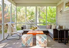 Small Screened Patio Ideas Designs Ideas Small Screened In Living Room With Sectional Sofa