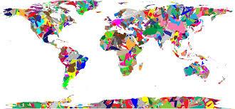 clipart modern art world map