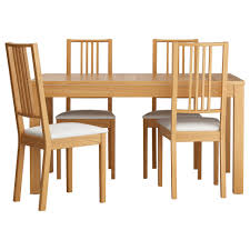 furniture dining table sets and chairs bjursta white oak veneer