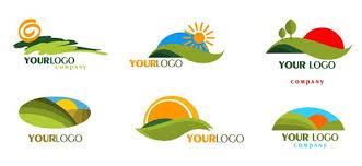 green mountain logo templates with rising sun free logo design