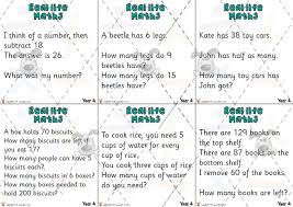 pet yr 4 maths word problem cards premium printable classroom