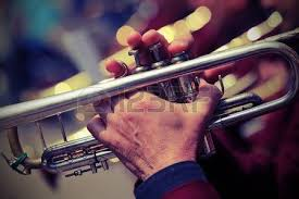of elderly with gloves the trumpet in the