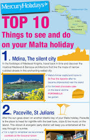 top 10 things to see do in malta mercury holidays
