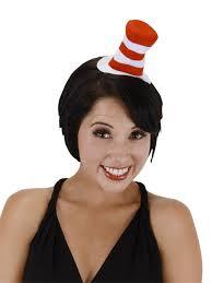 Halloween Costumes Cat Hat Dr Seuss Cat Hat Mini Headband Elope Halloween Costumes