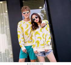 banana sweater sweater white menswear banana print boyfriend wheretoget