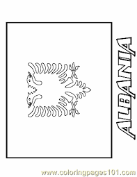 albanian flag coloring page 28 images flags of the world cool