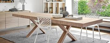 dining room trestle table two table by calligaris pomphome