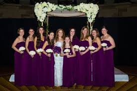 gatsby inspired jewish wedding with purple u0026 gold décor in new