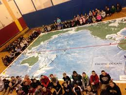 Giant Map Wilmington Middle Receives Grant Students Experience Giant