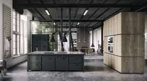 kitchen black mate masculine nice style industrial kitchen design