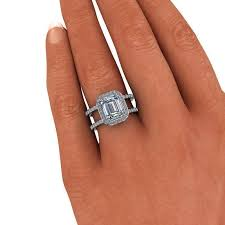 engagement rings emerald cut 3 40 ctw negative space ring emerald cut engagement ring