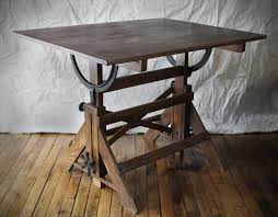 Height Adjustable Drafting Table Vintage Drafting Table Fantastic Metal Hardware Great Patina