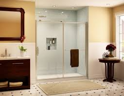 Sliding Shower Doors For Small Spaces Sliding Door Shower Enclosures For The Contemporary Bathroom