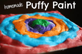 homemade puffy paint recipe with 3 ingredients happy hooligans
