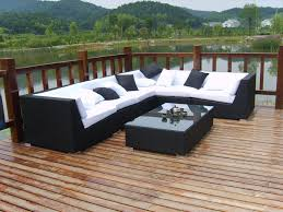 Modern Outdoor Dining Set by Furniture Discount Modern Outdoor Furniture Set With Black Rattan
