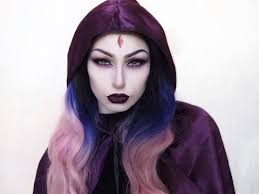 Raven Teen Titans Halloween Costume Veela Cosplay Raven Teen Titans Belt Makeup Velvet Cloak