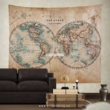 Vintage World Map Canvas by Excellent Trendy Wall Wooden World Map Wall World Map Wall Art