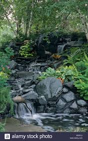 minnesota backyard water garden includes waterfall pond metal