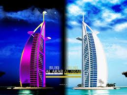 burj al arab in day night by captureaye on deviantart
