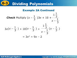 multiplying and dividing polynomials worksheet worksheets
