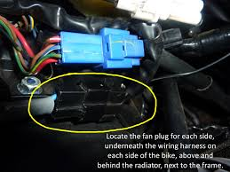 adding a manual fan switch to a racebike