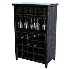 wicker 20 wine bottle rack bar console table stand glass holder