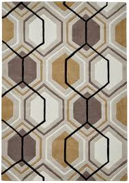 Modern Design Rug Modern Geometric Design Rug Hexagon 100 Acrylic Tufted Large