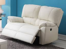 canapé 2 places electrique canapé fauteuil relax cuir noir ivoire ou chocolat marcis