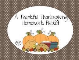 thanksgiving speech language homework freebie 4 pages for