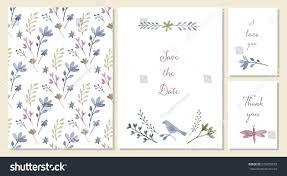 vector templates watercolor floral decoration wedding stock vector