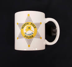 coffe cups north pole police department coffee cups small city of north
