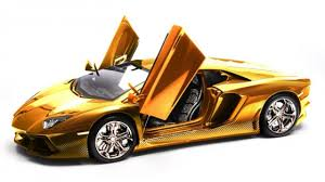 who made the lamborghini aventador the lamborghini aventador model is made of gold